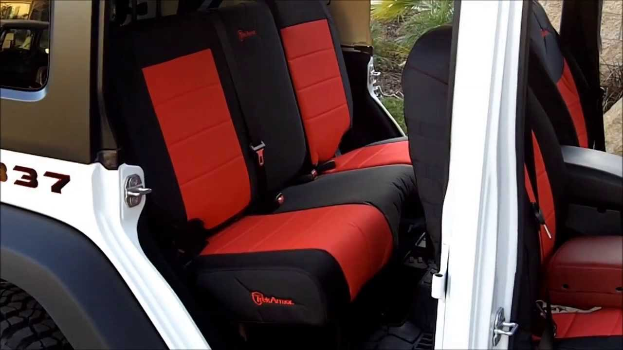 Trek Armor Seat Cover Installs On 2013 Jeep Wrangler