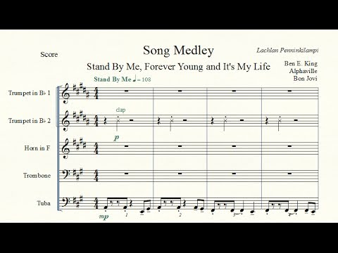 Stand By Me, Forever Young and It's My Life - Brass Quintet Medley