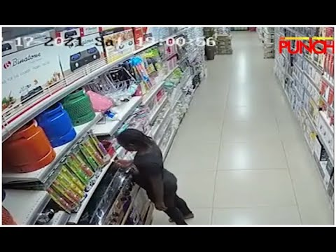 Download CCTV: Footage Of 9-Year-Old Suspect Setting Prince Ebeano Supermarket, Abuja On Fire   Punch