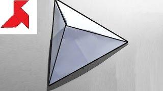 как сделать треугольную пирамиду из бумаги схема