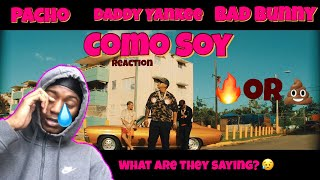 """Pacho Ft. Daddy Yankee, Bad Bunny - """"como Soy"""" Reaction"""