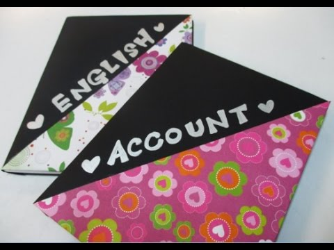 Diy 74 simple notebook decoration youtube for Back to school notebook decoration ideas
