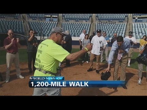 65-Year-Old Yankees Fan to Walk from Tampa to NYC for Charity