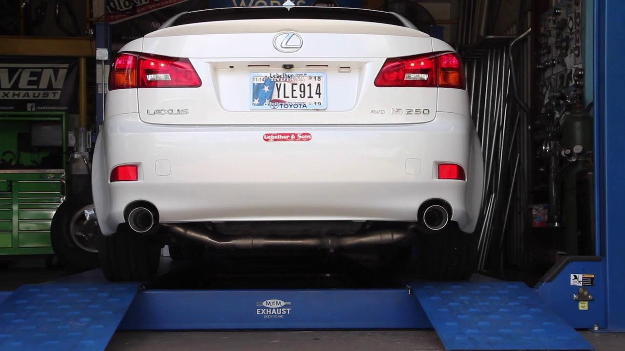 2008 lexus is250 exhaust carven tr