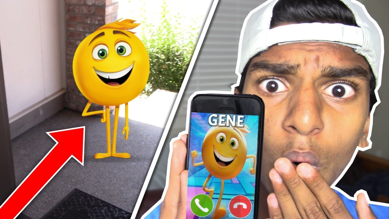 CALLING GENE FROM THE EMOJI MOVIE!! *GENE CAME TO MY HOUSE