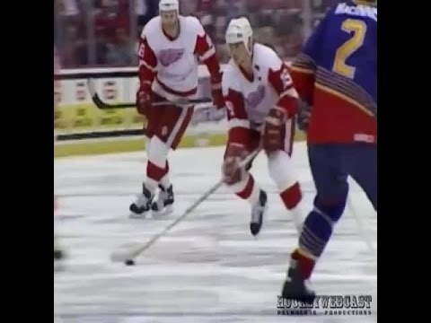 Yzerman's Game 7 Double Overtime Goal + Replays - YouTube
