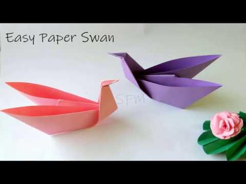 How to make Paper Swan | DIY  Quick and Easy Origami Bird |  Easy Paper Crafts Videos for kids