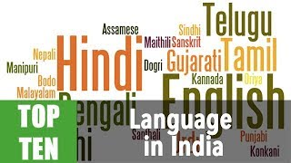 Top 10 Most Spoken language in India