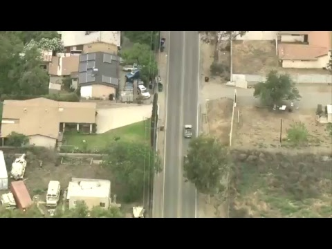 High-speed chase of stolen car in Southern California