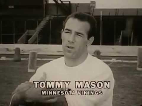 VINTAGE PERSONNA RAZOR BLADE AD - TOMMY MASON (MINNESOTA VIKING PLAYER & EX HUSBAND OF KATHY RIGBY)