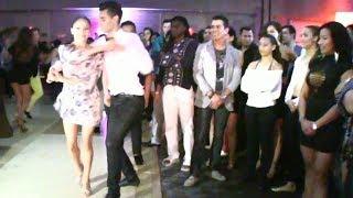Liz Lira, Andrew Cervantes, Brandon Ayala social salsa dancing!