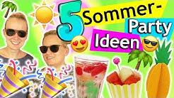 SOMMERPARTY 2019 DIY IDEEN Deko, Snacks, Überraschungen, Spiele & Getränke selber machen Eva & Kathi