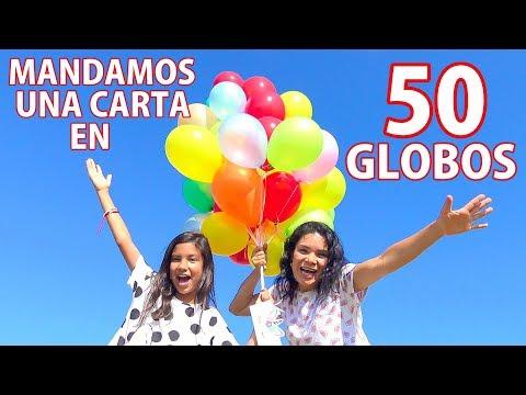 MANDAMOS UNA CARTA EN 50 GLOBOS | TV ANA EMILIA