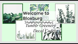 20 Bloxburg Tumblr Plant Decal ID's! (CODES IN DESCRIPTION)