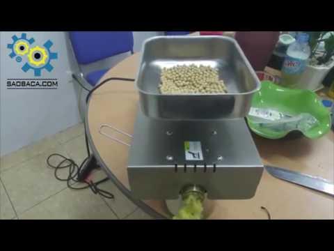 Máy ép dầu thực vật 4kg/1h - Video ép dầu đậu tương