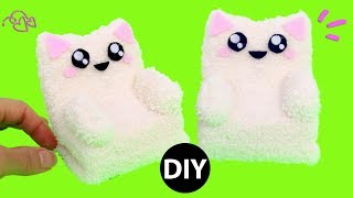 How to make miniature sofa chair for your doll. This kawaii cat puffy sofa chair is so comfy and cute. Easy to make using comment