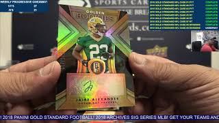 2018 Panini Gold Standard Football 12 Box Case Break #9