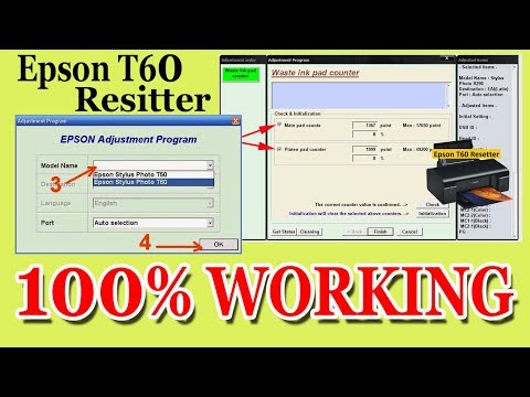 How to reset Epson Stylus Photo T60