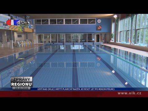Ústí nad Orlicí: Krytý plavecký bazén je deset let po rekonstrukci