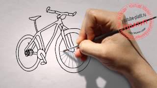 Как нарисовать веловипед