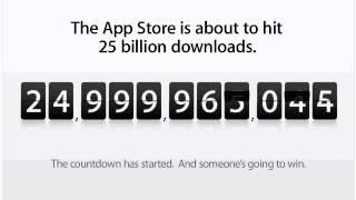 Apple's 25 Billionth App Download - Final Countdown