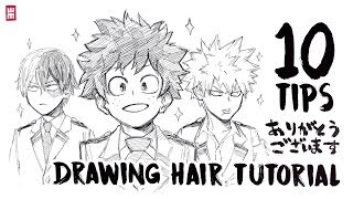 How to Draw Hąir | ANY HAIRSTYLES Tutorial with 10 Art Tips