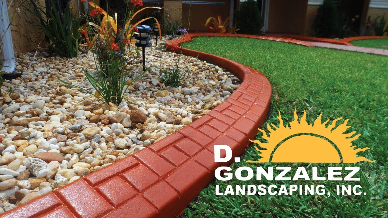 Decorative Concrete Borders And Curbs D Gonzalez Landscaping Youtube