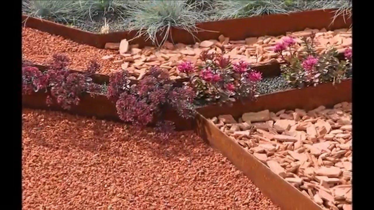 tuto posez vos bordures de jardin souples acier corten acier galva et alu apanages