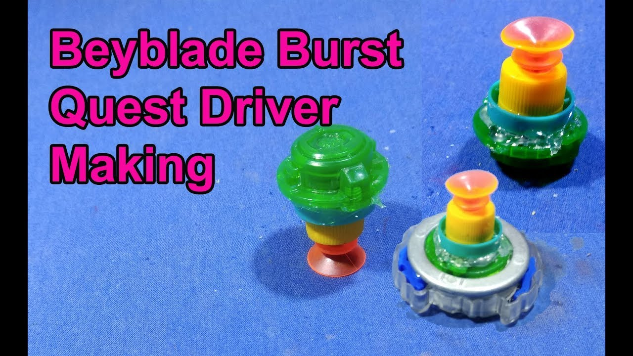 Quest Driver・Qs Tip Suction Sucker Bottom for Beyblade Burst Universal Gyro Toy