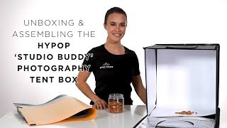 Unboxing and Assembling the Hypop 'Studio Buddy' Photography Studio Tent Box