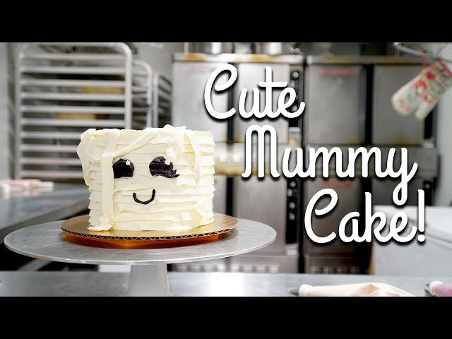 How to Make a Cute Halloween Mummy Cake! Easy/Beginner Decorating Tutorial!