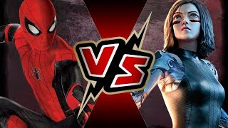 Spider-Man (MCU) VS Alita (ALITA: BATTLE ANGEL)   BATTLE ARENA