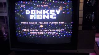Donkey Kong Atari 800XL gameplay review! - And, some ATASCII animation art from 1990