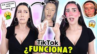 PROBANDO TRUCOS RAROS DE TIK TOK! 😱MAKEUP HACKS #2 💄 ¿Funcionan? | Claudipia