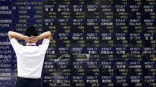 видео В Азии вслед за США рухнули котировки на фондовых биржах