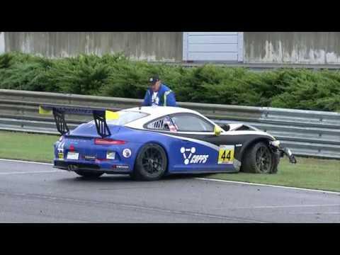 Porsche GT3 Cup Challenge USA 2017. Race 2 Barber Motorsports Park. Greg Palmer Hard Crash Aftermath