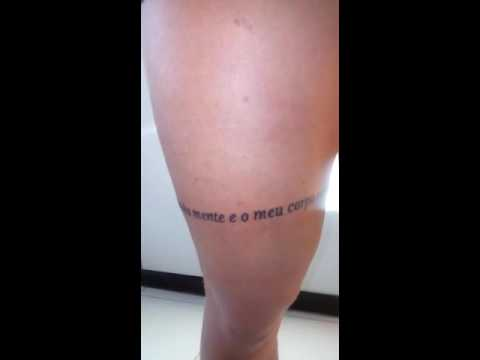 Tattoo Na Coxa Youtube