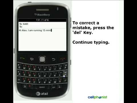 Send a Text Message: How-to on AT&T BlackBerry Bold 9000