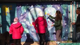 В севастопольском приюте для детей и подростков нарисовали Вселенную и оборудовали детскую площадку