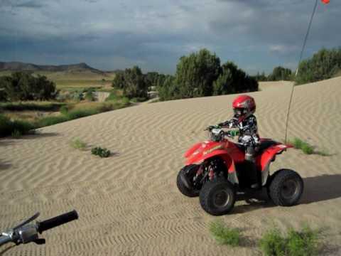 Yamaha Breeze, Polaris Scrambler 90 out at the Sand Dunes