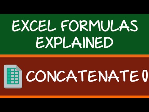 How to Use Excel CONCATENATE Function (with Video)