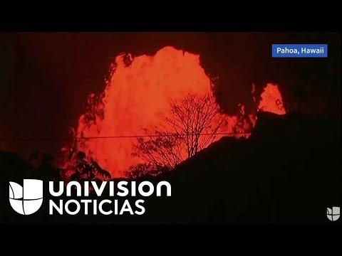 EN VIVO: Así se escucha a esta hora la erupción del volcán Kilauea en Hawaii.