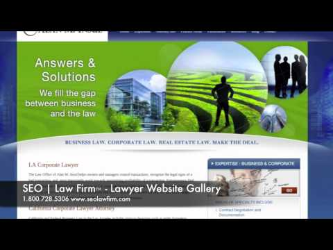 Lawyer Website Design Gallery from Seolawfirm.com
