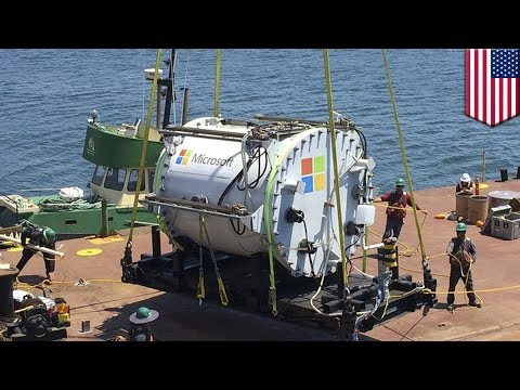 Microsoft reaches new depths for new underwater data center - TomoNews
