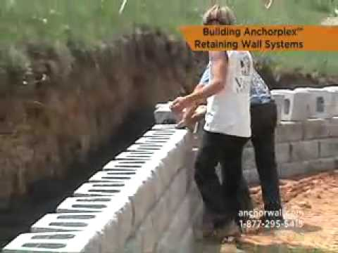 The Anchorplex Retaining Wall System Youtube