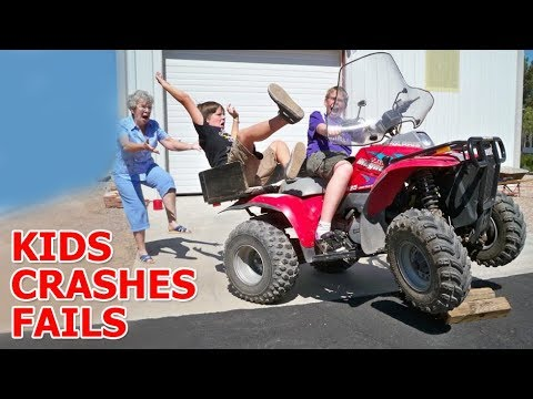 Kids' crashes on Mini Quad (ATV) 2017