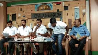 Mr.  Jayanth addressing Media in Press Club of Bangalore