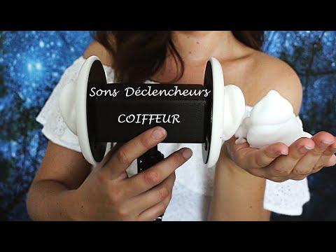 ASMR Challenge #4 Spécial Coiffeur SONS DÉCLENCHEURS - Hairdresser  - Ear massage Mousse