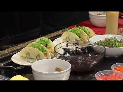 Poke and Thai Peanut Shrimp Tacos with Legacy Bistro