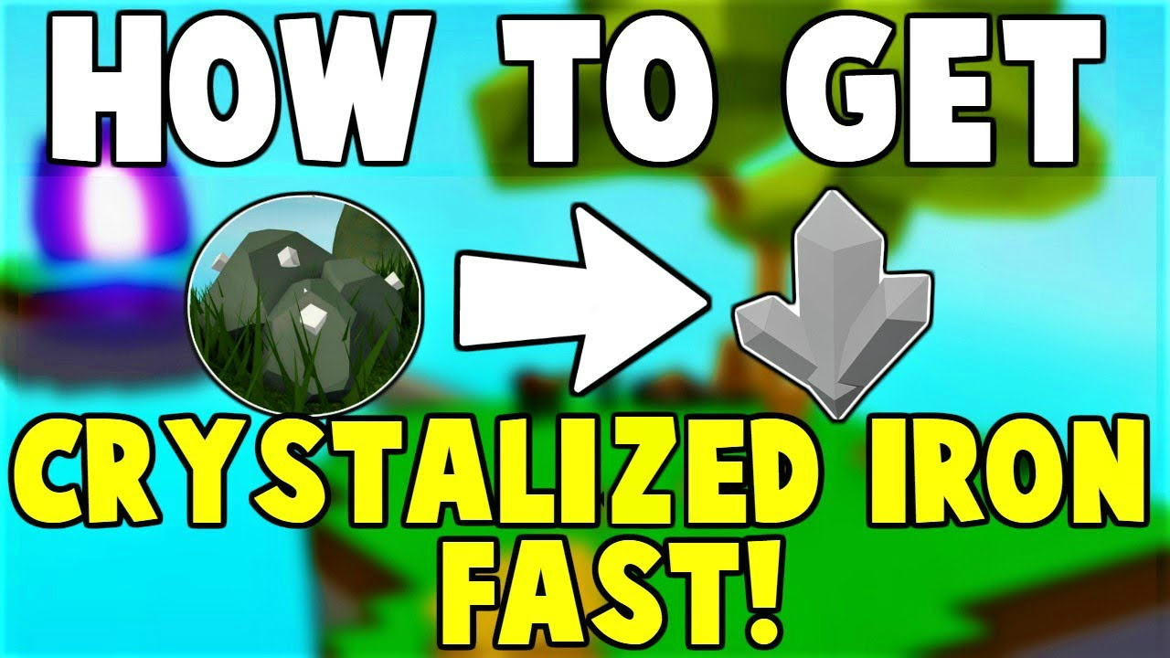 Easy How To Get Crystallized Iron Fast In Roblox Skyblock 2020